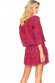 Les Favorites |  Dress with floral print Flori | pink   | Picture 7