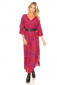Les Favorites |  Maxi dress with floral print Bella | pink  | Picture 2