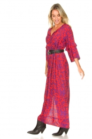 Les Favorites |  Maxi dress with floral print Bella | pink  | Picture 5