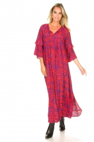 Les Favorites |  Maxi dress with floral print Bella | pink  | Picture 3