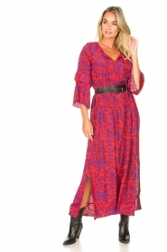 Les Favorites |  Maxi dress with floral print Bella | pink  | Picture 4