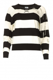 Liu Jo |  Sweater with chain details Maddy | black  | Picture 1