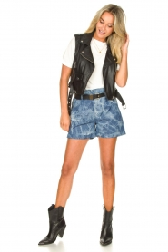 Les Favorites :  Paperbag shorts Kate | blue - img4