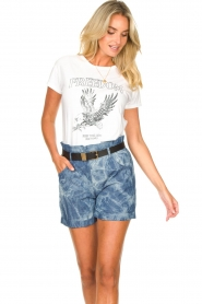 Les Favorites :  Paperbag shorts Kate | blue - img5