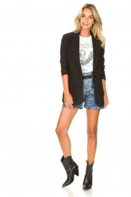 Les Favorites :  Paperbag shorts Kate | blue - img3