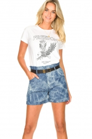 Les Favorites :  Paperbag shorts Kate | blue - img2