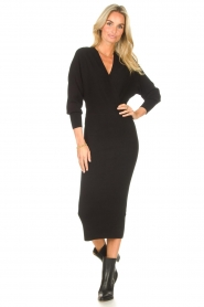 Liu Jo |  Midi dress Leya | black  | Picture 5
