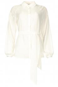 Liu Jo |  See-through blouse Bea | ecru  | Picture 1
