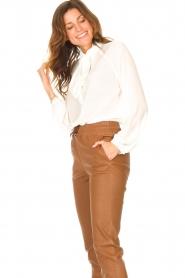 Liu Jo |  See-through blouse Bea | ecru  | Picture 5
