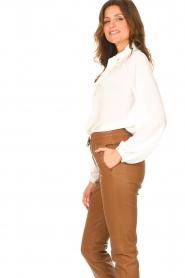 Liu Jo |  See-through blouse Bea | ecru  | Picture 6