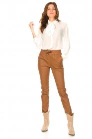 Liu Jo |  See-through blouse Bea | ecru  | Picture 3