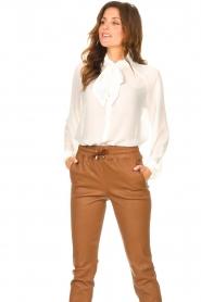 Liu Jo |  See-through blouse Bea | ecru  | Picture 2