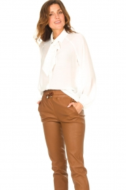 Liu Jo |  See-through blouse Bea | ecru  | Picture 4