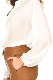 Liu Jo |  See-through blouse Bea | ecru  | Picture 8