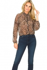 Liu Jo    See-through blouse with print Bea   black    Picture 4