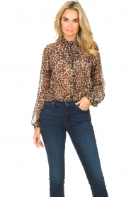 Liu Jo    See-through blouse with print Bea   black    Picture 2