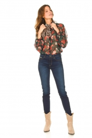 Liu Jo |  See-through blouse with print Bea | black  | Picture 3