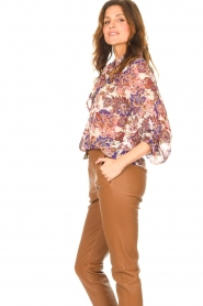 Liu Jo |  See-through blouse with print Bea | purple  | Picture 6