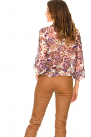 Liu Jo |  See-through blouse with print Bea | purple  | Picture 7