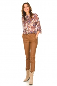 Liu Jo |  See-through blouse with print Bea | purple  | Picture 3
