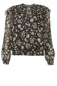 Liu Jo |  Top with floral print Ray | black  | Picture 1