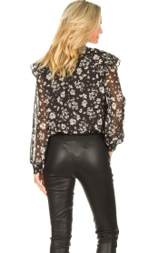 Liu Jo |  Top with floral print Ray | black  | Picture 6