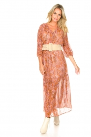 Set |  Paisley print maxi dress | Ida  | Picture 2
