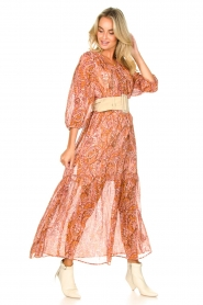 Set |  Paisley print maxi dress | Ida  | Picture 4