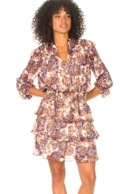 Liu Jo |  Dress with Print Cindy | purple  | Picture 4