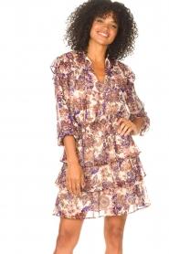 Liu Jo |  Dress with Print Cindy | purple  | Picture 2