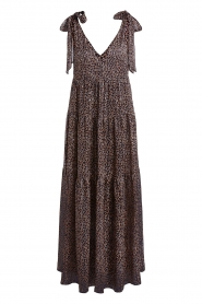 Set |  Giraffe print maxi dress Ilse | black  | Picture 1