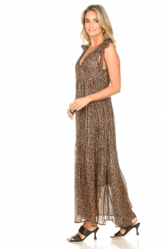 Set |  Giraffe print maxi dress Ilse | black  | Picture 4