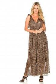 Set |  Giraffe print maxi dress Ilse | black  | Picture 3