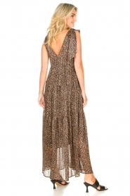 Set |  Giraffe print maxi dress Ilse | black  | Picture 5