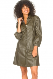 Liu Jo    Faux leather dress Lana   green    Picture 5