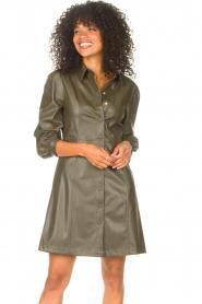 Liu Jo    Faux leather dress Lana   green    Picture 4