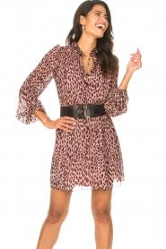 Liu Jo    Dress with animal print Irene   pink    Picture 2