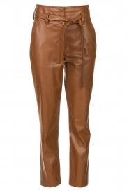Liu Jo |  Faux leather paperbag pants Lia | brown  | Picture 1
