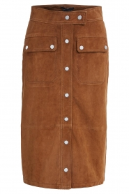 Set |  Suede midi skirt Ingrid | brown  | Picture 1