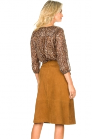 Set |  Suede midi skirt Ingrid | brown  | Picture 7