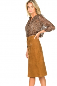 Set |  Suede midi skirt Ingrid | brown  | Picture 6