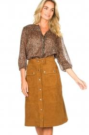 Set |  Suede midi skirt Ingrid | brown  | Picture 5