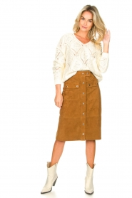 Set |  Suede midi skirt Ingrid | brown  | Picture 4