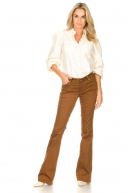 Liu Jo |  Flared pants Aleyna | brown  | Picture 2