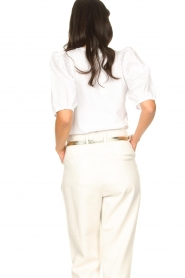 Set |  Cotton top with puff sleeves Rhode | white  | Picture 7