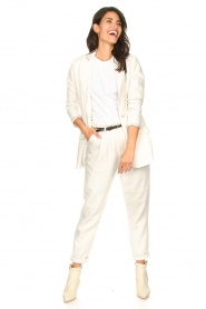 Set |  Cotton top with puff sleeves Rhode | white  | Picture 3