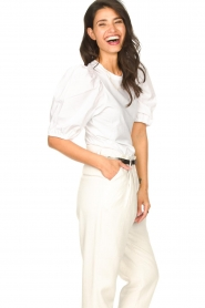 Set |  Cotton top with puff sleeves Rhode | white  | Picture 6