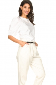 Set |  Cotton top with puff sleeves Rhode | white  | Picture 5