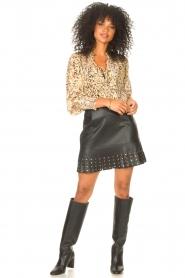 Liu Jo |  Faux leather skirt Janna | black  | Picture 3
