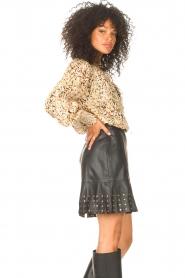 Liu Jo |  Faux leather skirt Janna | black  | Picture 6